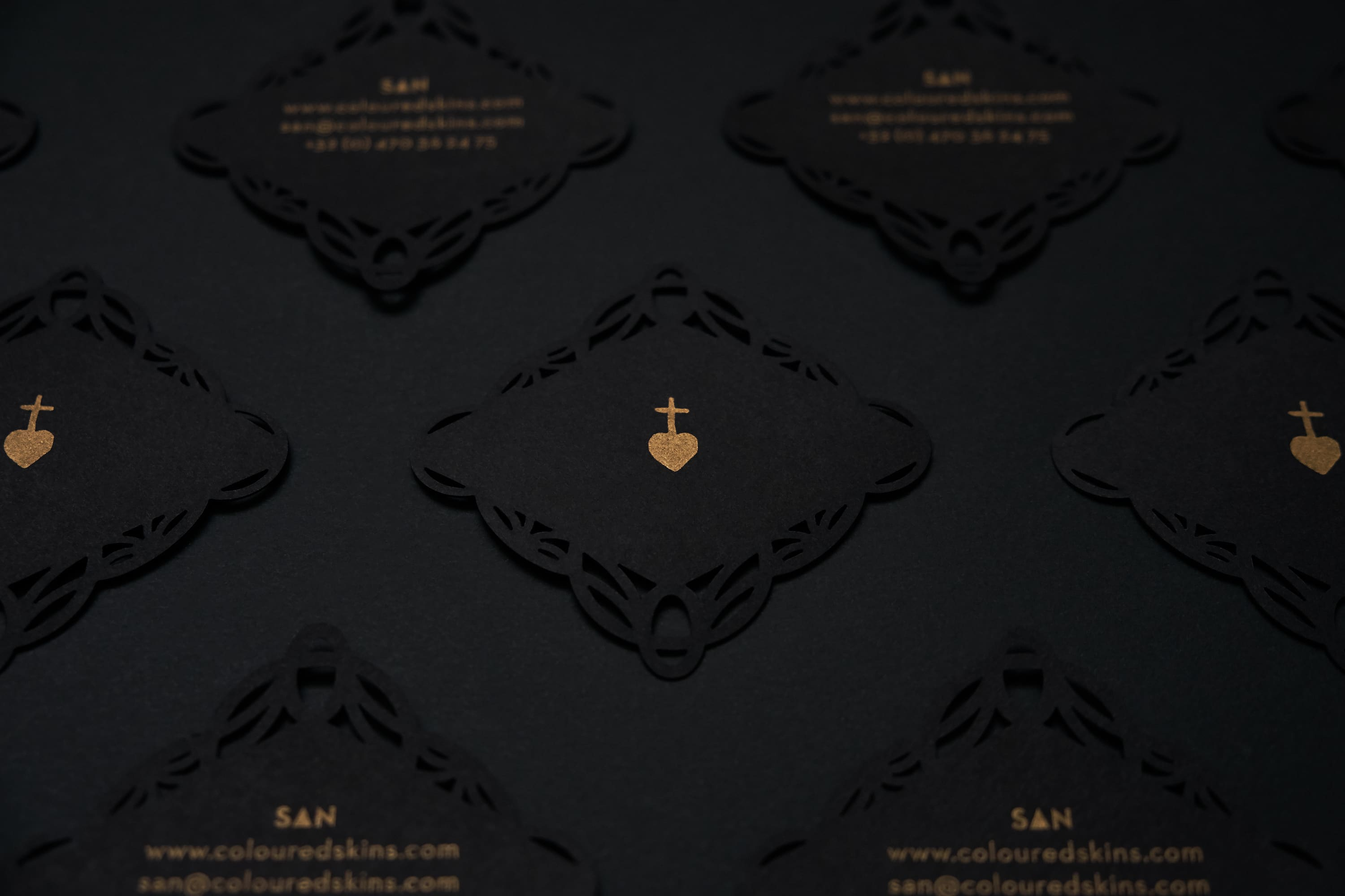 San tattoo artist business card